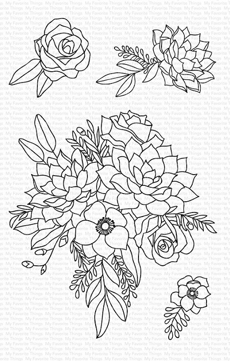 My Favorite Things - Clear Stamp - Fantasy Florals