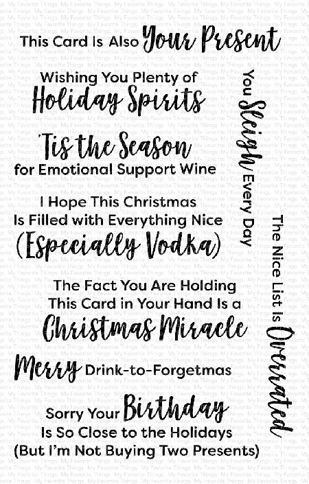 My Favorite Things - Clear Stamp - Sassy Pants Holidays Too