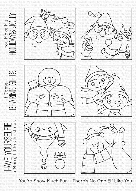 My Favorite Things - Clear Stamp - BB Christmas sELFies