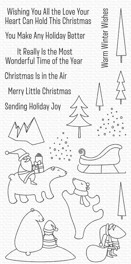 My Favorite Things - Clear Stamp - Merry Moments