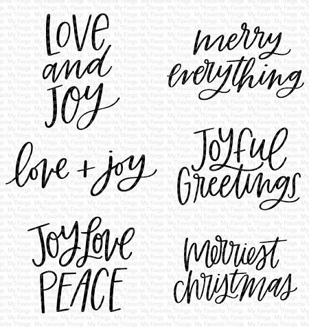 My Favorite Things - Clear Stamp - Mini Merry Messages