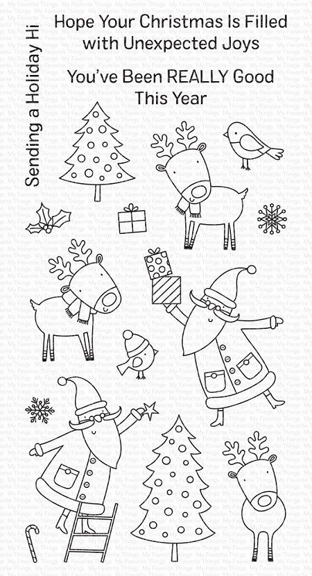 My Favorite Things - Clear Stamp - Joyous Holidays