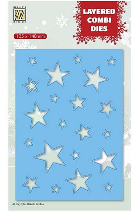 Nellie Snellen's - Layered Combi Dies - Rectangle Stars B