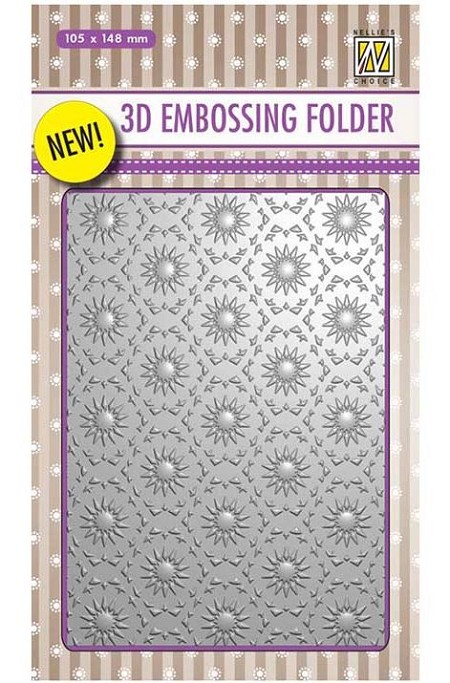 Nellie Snellen's - 3D Embossing Folder - Background Flowers 1
