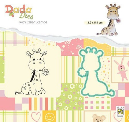 Nellie Snellen's - Dada Cute Giraffe Stamp and Die Set