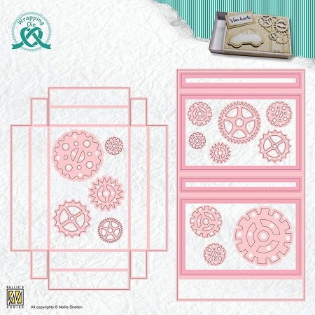 Nellie Snellen's - Wrapping Gift Card Box Die set