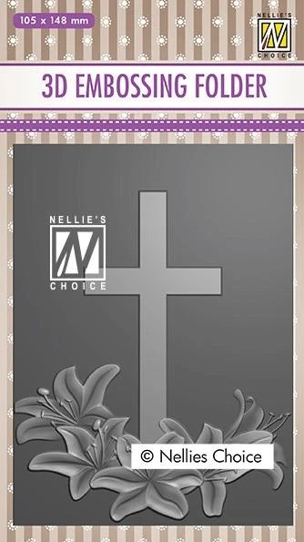 Nellie Snellen's - 3D Embossing Folder - Cross 2