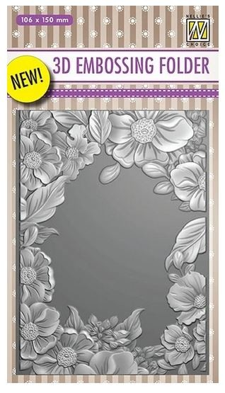 Nellie Snellen's - 3D Embossing Folder - Flower Frame