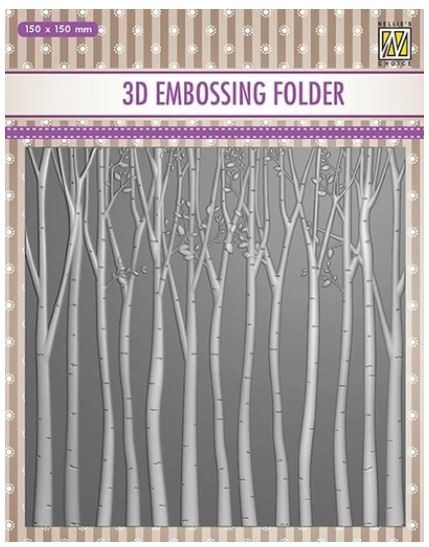 Nellie Snellen's - 3D Embossing Folder - Trees