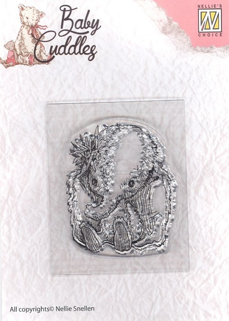 Nellie's Choice - Clear Stamp - Baby Cuddles Baby Elephant