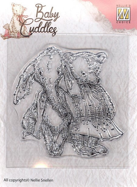 Nellie's Choice - Clear Stamp - Baby Cuddles Cuddly Friends