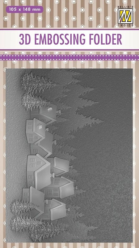 Nellie Snellen's - 3D Embossing Folder - Snowy Village