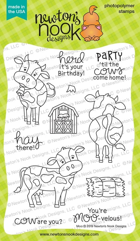 Newton's Nook - Clear Stamp - Moo