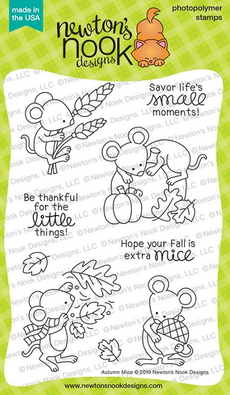 Newton's Nook - Clear Stamp - Autumn Mice