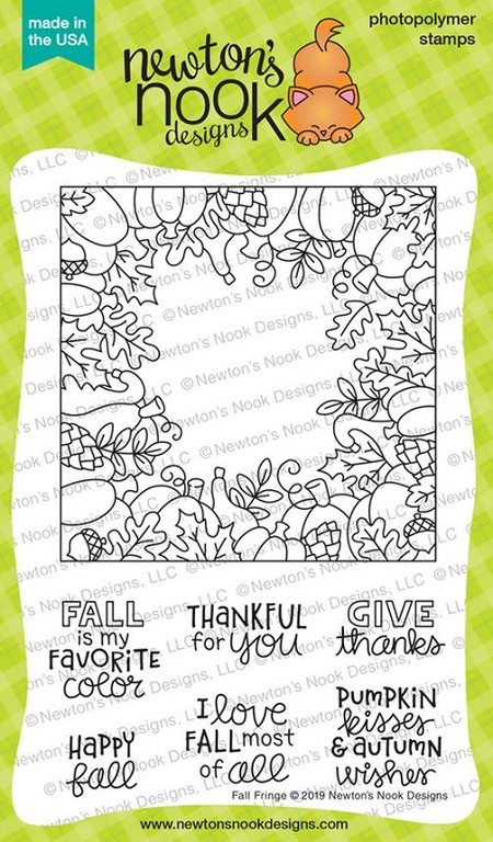 Newton's Nook - Clear Stamp - Fall Fringe