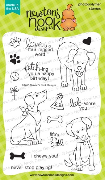 Newton's Nook - Clear Stamp - Fetching Friendship