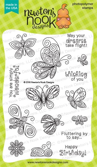 Newton's Nook - Clear Stamp - Beautiful Wings