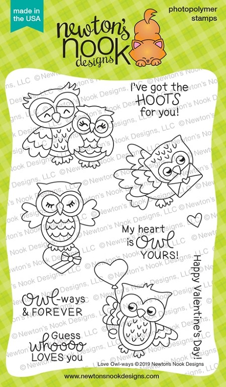 Newton's Nook - Clear Stamp - Love Owl-ways