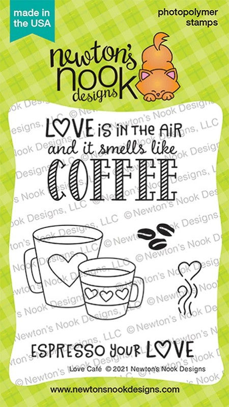 Newton's Nook - Clear Stamp - Love Café