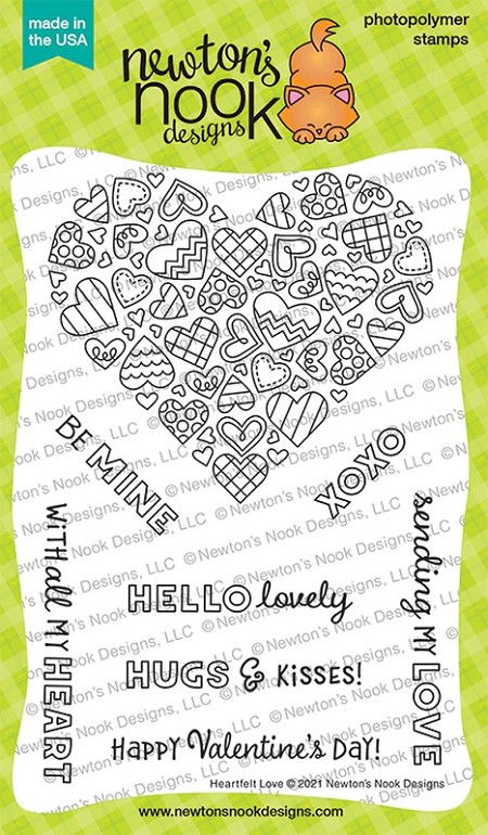 Newton's Nook - Clear Stamp - Heartfelt Love