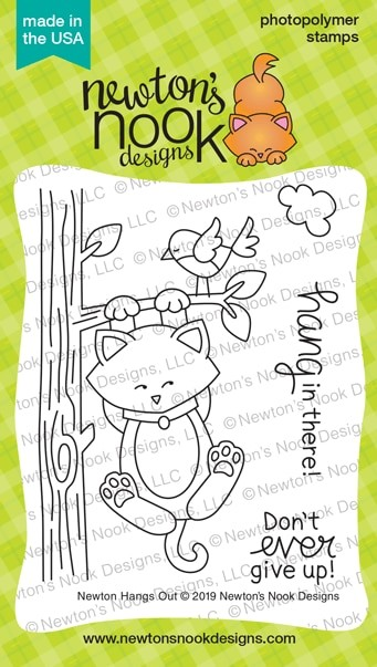 Newton's Nook - Clear Stamp - Newton Hangs Out