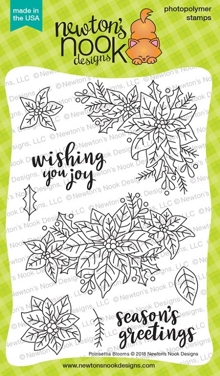 Newton's Nook - Clear Stamp - Poinsettia Blooms