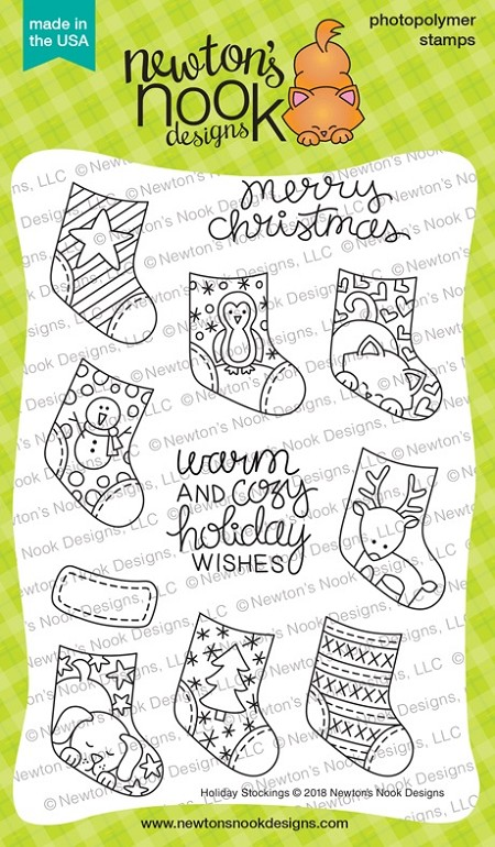 Newton's Nook - Clear Stamp - Holiday Stockings
