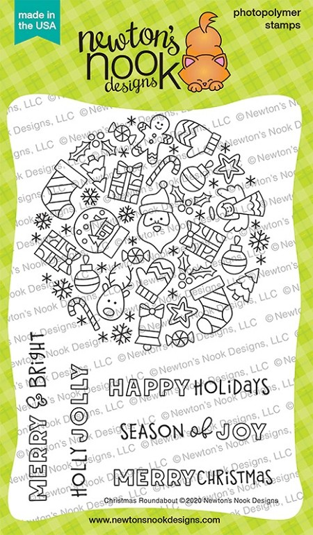 Newton's Nook - Clear Stamp - Christmas Roundabout