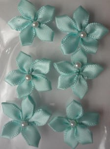 Offray Ribbon Embellishments - Pearl Violet - Turquoise
