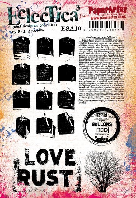 Paper Artsy - Eclectica Cling Mounted Rubber Stamps - Seth Apter Set 10