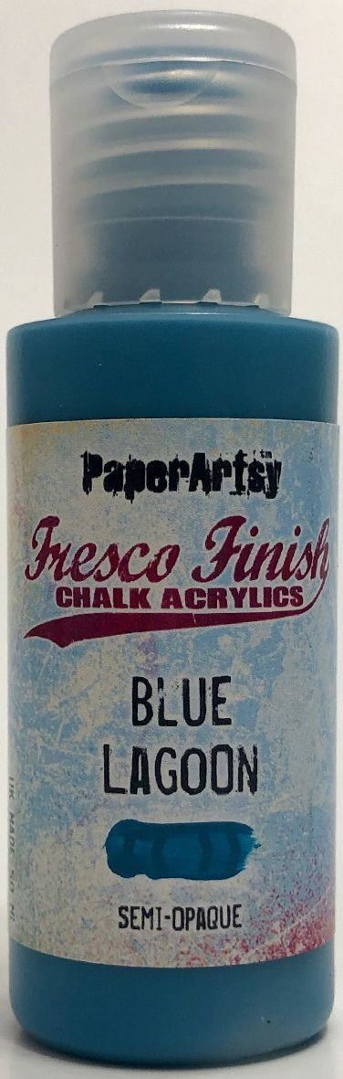 Paper Artsy - Fresco Finish Acrylic Paints - Blue Lagoon (semi-opaque)
