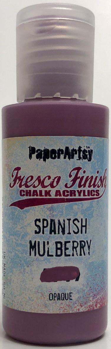 Paper Artsy - Fresco Finish Acrylic Paints - Spanish Mulberry (opaque)