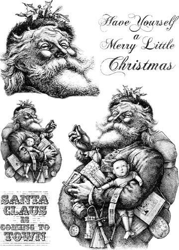 Paper Artsy - Cling Mounted Rubber Stamp Set - Hot Picks Christmas 04