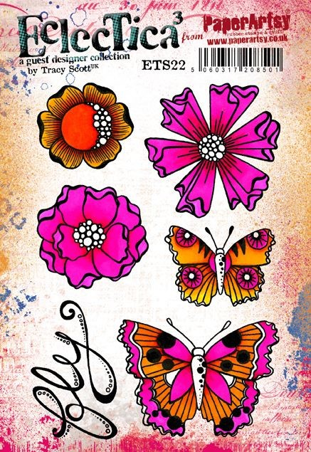 Paper Artsy - Eclectica Cling Mounted Rubber Stamps - Tracy Scott 22