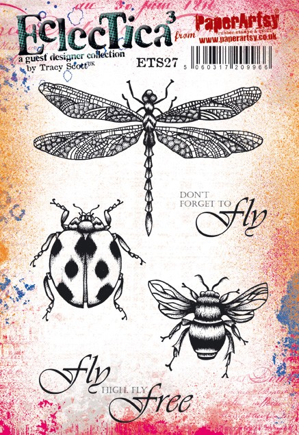 Paper Artsy - Eclectica Cling Mounted Rubber Stamps - Tracy Scott 27