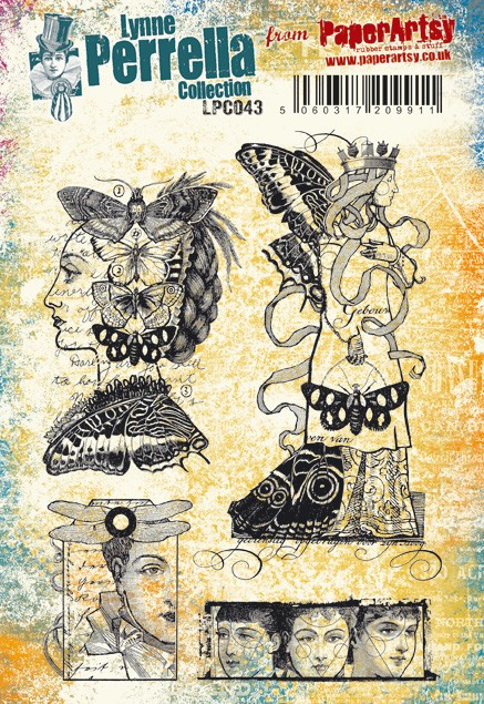 Paper Artsy - Lynne Perrella Cling Mounted Rubber Stamp Set 043