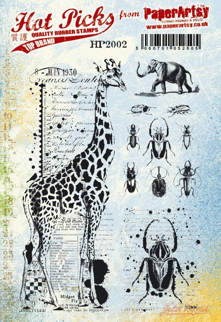 Paper Artsy - Cling Mounted Rubber Stamp Sets - Hot Picks 2002