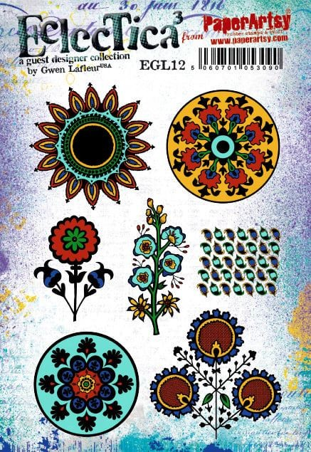 Paper Artsy - Cling Mounted Rubber Stamps - Eclectica Gwen LaFleur 12