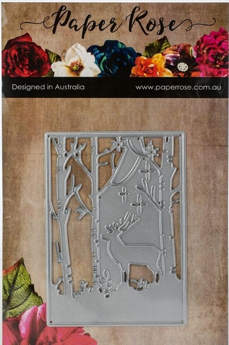 Paper Rose - Cutting Die - Reindeer In Forest