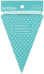 Pebbles - Basics Collection - Banner Kit - Triangle Aqua