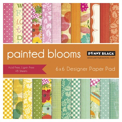 "Penny Black - 6""x6"" Paper Pad - Painted Blooms"