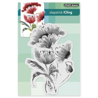 Penny Black - Slapstick Cling Stamp - Pop Pop Poppy