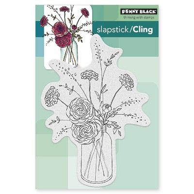 Penny Black - Slapstick Cling Stamp - Fragrant