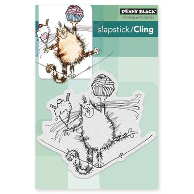 Penny Black - Slapstick Cling Stamp - High Wire Celebration
