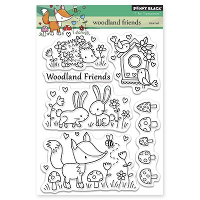 Penny Black - Clear Stamp - Woodland Friends