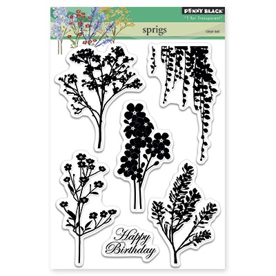 Penny Black - Clear Stamp - Sprigs