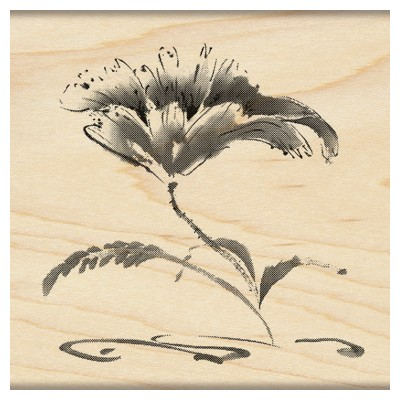 Penny Black - Wood mounted rubber stamp - Poise