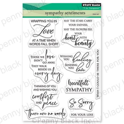 Penny Black - Clear Stamp - Sympathy sentiments
