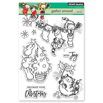 Penny Black - Clear Stamp - Gather Around