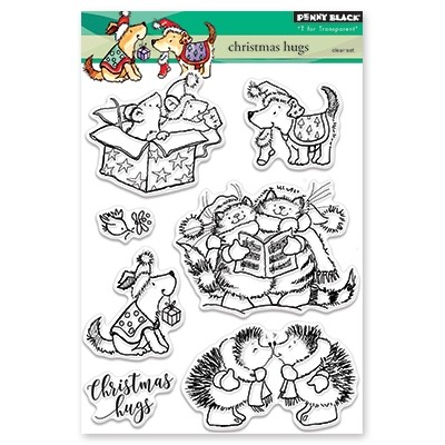 Penny Black - Clear Stamp - Christmas Hugs